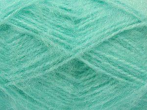 Fiber Content 50% Acrylic, 30% Mohair, 20% Nylon, Mint Green, Brand Ice Yarns, fnt2-71508