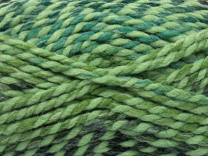 Fiber Content 50% Acrylic, 50% Wool, Brand Ice Yarns, Green Shades, Black, fnt2-71548