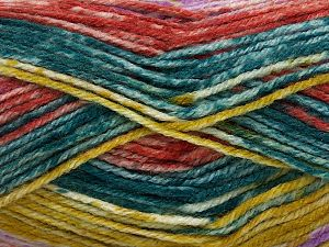 Fiber Content 85% Acrylic, 15% Wool, Olive Green, Oil Blue, Lilac, Brand Ice Yarns, Copper, fnt2-71554