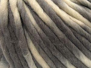 Fiber Content 100% Wool, Brand Ice Yarns, Grey, Cream, fnt2-71577