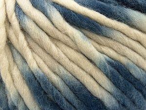Fiber Content 100% Wool, Brand Ice Yarns, Cream, Blue, fnt2-71578