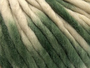 Fiber Content 100% Wool, Brand Ice Yarns, Green, Cream, fnt2-71579