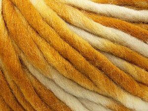 Fiber Content 100% Wool, Brand Ice Yarns, Gold, Cream, fnt2-71581