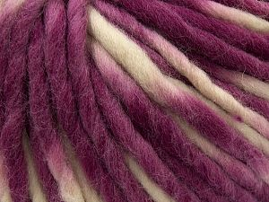 Fiber Content 100% Wool, Purple, Brand Ice Yarns, Cream, fnt2-71582