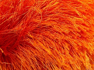 Knit:  16 stitches and  26 rows on 4&ampx4& (10 cm x 10 cm) Crochet: 12 sc + 14 rows = 4& (10 cm) with size K-10 (6.5 mm) hook Fiber Content 100% Polyester, Orange, Brand ICE, Yarn Thickness 6 SuperBulky  Bulky, Roving, fnt2-13269