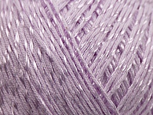 Fiber Content 70% Mercerised Cotton, 30% Viscose, Lilac, Brand KUKA, Yarn Thickness 2 Fine  Sport, Baby, fnt2-16810