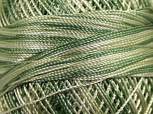 Fiber Content 100% Micro Fiber, Brand YarnArt, Green Shades, Yarn Thickness 0 Lace  Fingering Crochet Thread, fnt2-17330