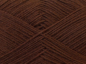 Fiber Content 60% Merino Wool, 40% Acrylic, Brand ICE, Dark Brown, Yarn Thickness 2 Fine  Sport, Baby, fnt2-21093
