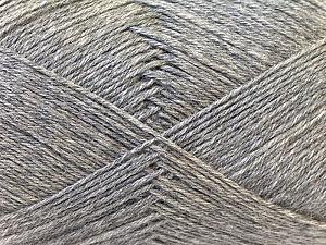 Fiber Content 60% Merino Wool, 40% Acrylic, Brand ICE, Grey, Yarn Thickness 2 Fine  Sport, Baby, fnt2-21096