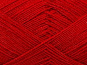 Fiber Content 60% Merino Wool, 40% Acrylic, Red, Brand ICE, Yarn Thickness 2 Fine  Sport, Baby, fnt2-21108