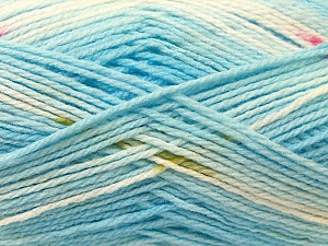 Fiber Content 100% Baby Acrylic, White, Pink, Brand ICE, Blue, Yarn Thickness 2 Fine  Sport, Baby, fnt2-22045