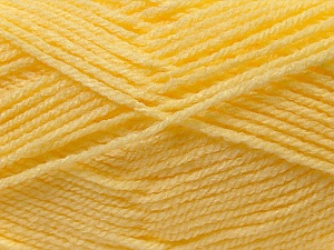 Fiber Content 100% Acrylic, Light Yellow, Brand ICE, Yarn Thickness 3 Light  DK, Light, Worsted, fnt2-22428