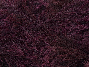 Fiber Content 100% Polyester, Brand ICE, Dark Maroon, Yarn Thickness 5 Bulky  Chunky, Craft, Rug, fnt2-22718