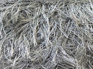 Fiber Content 100% Polyester, Brand Ice Yarns, Grey, Yarn Thickness 5 Bulky Chunky, Craft, Rug, fnt2-22794