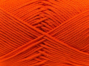 Fiber Content 100% Mercerised Cotton, Orange, Brand ICE, Yarn Thickness 2 Fine  Sport, Baby, fnt2-23326