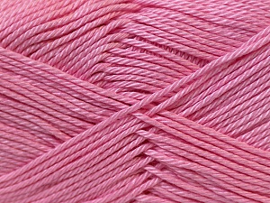 Fiber Content 100% Mercerised Cotton, Pink, Brand ICE, Yarn Thickness 2 Fine  Sport, Baby, fnt2-23330
