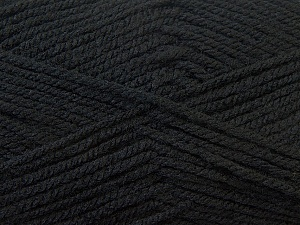 Worsted  Fiber Content 100% Acrylic, Brand ICE, Black, Yarn Thickness 4 Medium  Worsted, Afghan, Aran, fnt2-23720