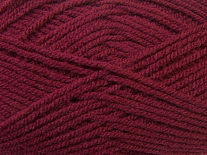 Worsted  Fiber Content 100% Acrylic, Brand ICE, Burgundy, Yarn Thickness 4 Medium  Worsted, Afghan, Aran, fnt2-23728
