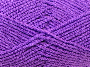 Worsted Fiber Content 100% Acrylic, Lavender, Brand ICE, Yarn Thickness 4 Medium Worsted, Afghan, Aran, fnt2-23735