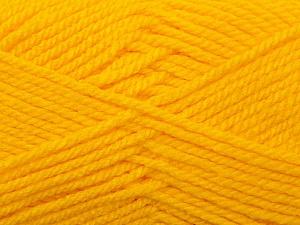 Bulky  Fiber Content 100% Acrylic, Yellow, Brand ICE, Yarn Thickness 5 Bulky  Chunky, Craft, Rug, fnt2-23751