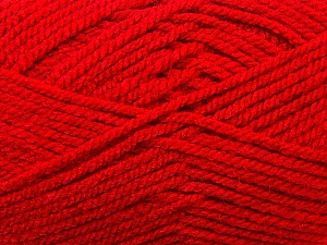 Bulky  Fiber Content 100% Acrylic, Red, Brand ICE, Yarn Thickness 5 Bulky  Chunky, Craft, Rug, fnt2-23752