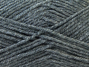 Worsted  Fiber Content 100% Acrylic, Brand ICE, Dark Grey, Yarn Thickness 4 Medium  Worsted, Afghan, Aran, fnt2-23890