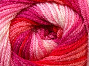 Fiber Content 100% Premium Acrylic, White, Red, Pink, Brand ICE, Fuchsia, Yarn Thickness 3 Light  DK, Light, Worsted, fnt2-24564
