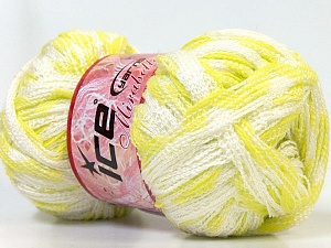 Fiber Content 100% Acrylic, White, Light Green, Brand Ice Yarns, Yarn Thickness 6 SuperBulky Bulky, Roving, fnt2-25170