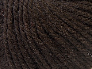 Fiber Content 40% Acrylic, 35% Wool, 25% Alpaca, Brand ICE, Dark Brown, Yarn Thickness 5 Bulky  Chunky, Craft, Rug, fnt2-25397