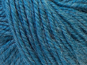 Fiber Content 40% Acrylic, 35% Wool, 25% Alpaca, Brand ICE, Blue, Yarn Thickness 5 Bulky  Chunky, Craft, Rug, fnt2-25406