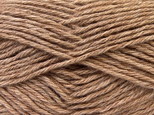 Fiber Content 70% Dralon, 30% Alpaca, Light Brown, Brand ICE, Yarn Thickness 4 Medium  Worsted, Afghan, Aran, fnt2-25671