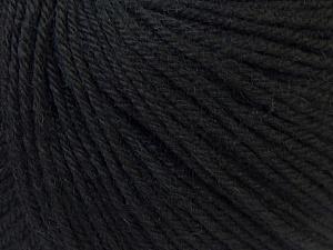 Fiber Content 40% Acrylic, 40% Merino Wool, 20% Polyamide, Brand ICE, Black, Yarn Thickness 2 Fine  Sport, Baby, fnt2-26112