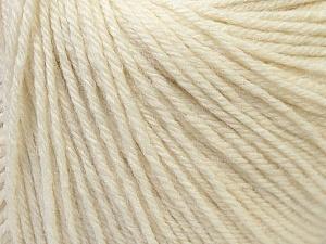 Fiber Content 40% Merino Wool, 40% Acrylic, 20% Polyamide, White, Brand ICE, Yarn Thickness 2 Fine  Sport, Baby, fnt2-26113