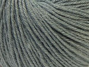 Fiber Content 40% Merino Wool, 40% Acrylic, 20% Polyamide, Brand ICE, Grey, Yarn Thickness 2 Fine  Sport, Baby, fnt2-26116
