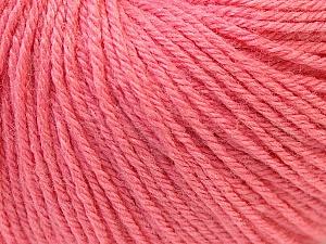 Fiber Content 40% Merino Wool, 40% Acrylic, 20% Polyamide, Salmon, Brand ICE, Yarn Thickness 2 Fine  Sport, Baby, fnt2-26119