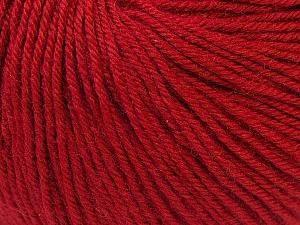 Fiber Content 40% Merino Wool, 40% Acrylic, 20% Polyamide, Brand ICE, Dark Red, Yarn Thickness 2 Fine  Sport, Baby, fnt2-26130