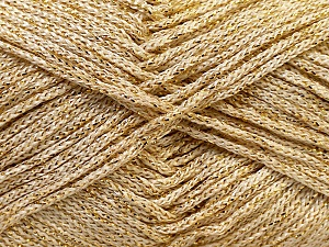 Width is 2-3 mm Fiber Content 100% Polyester, Brand Ice Yarns, Gold, fnt2-27085