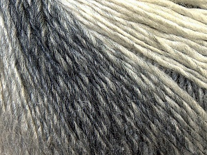 Fiber Content 50% Acrylic, 50% Wool, White, Brand ICE, Grey Shades, Yarn Thickness 3 Light  DK, Light, Worsted, fnt2-27146