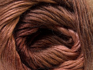 Fiber Content 40% Wool, 30% Acrylic, 30% Mohair, Brand ICE, Brown Shades, Yarn Thickness 3 Light  DK, Light, Worsted, fnt2-27201