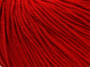 Fiber Content 50% Cotton, 50% Acrylic, Red, Brand ICE, Yarn Thickness 3 Light  DK, Light, Worsted, fnt2-27358