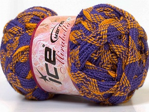 Fiber Content 97% Acrylic, 3% Lurex, Yellow, Lilac, Brand Ice Yarns, Gold, Yarn Thickness 6 SuperBulky Bulky, Roving, fnt2-27374