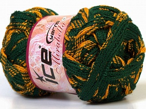 Fiber Content 97% Acrylic, 3% Lurex, Yellow, Brand Ice Yarns, Green, Gold, Yarn Thickness 6 SuperBulky Bulky, Roving, fnt2-27375