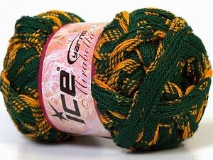 Fiber Content 97% Acrylic, 3% Lurex, Yellow, Brand Ice Yarns, Green, Gold, Yarn Thickness 6 SuperBulky Bulky, Roving, fnt2-27375