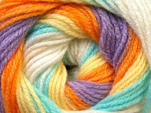 Fiber Content 100% Baby Acrylic, Yellow, White, Orange, Lilac, Light Green, Brand ICE, Yarn Thickness 2 Fine  Sport, Baby, fnt2-29611