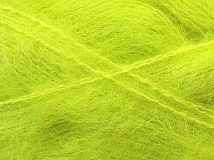 Fiber Content 70% Mohair, 30% Acrylic, Phosphoric Yellow, Brand ICE, Yarn Thickness 5 Bulky  Chunky, Craft, Rug, fnt2-29911