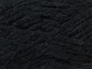SuperBulky  Fiber Content 60% Acrylic, 30% Alpaca, 10% Wool, Brand ICE, Black, Yarn Thickness 6 SuperBulky  Bulky, Roving, fnt2-30823