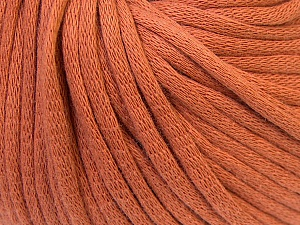 This is a tube-like yarn with soft cotton fleece filled inside. Fiber Content 70% Cotton, 30% Polyester, Brand ICE, Copper, Yarn Thickness 5 Bulky  Chunky, Craft, Rug, fnt2-32491