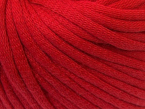 This is a tube-like yarn with soft cotton fleece filled inside. Fiber Content 70% Cotton, 30% Polyester, Red, Brand ICE, Yarn Thickness 5 Bulky  Chunky, Craft, Rug, fnt2-32495