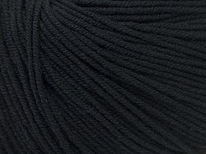 Fiber Content 60% Cotton, 40% Acrylic, Brand ICE, Black, Yarn Thickness 2 Fine  Sport, Baby, fnt2-32555