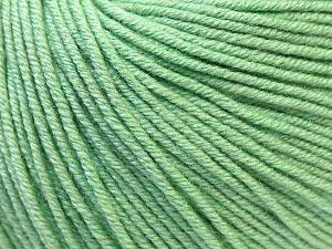 Fiber Content 60% Cotton, 40% Acrylic, Mint Green, Brand ICE, Yarn Thickness 2 Fine  Sport, Baby, fnt2-32566